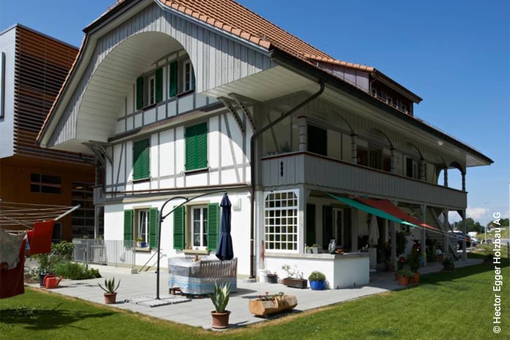 Renovierte Fassade Bauernhaus